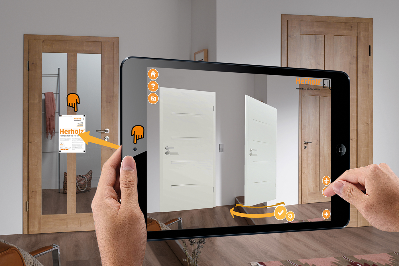 augmented reality mobile app 3D UI/UX marketing   digital door ios android