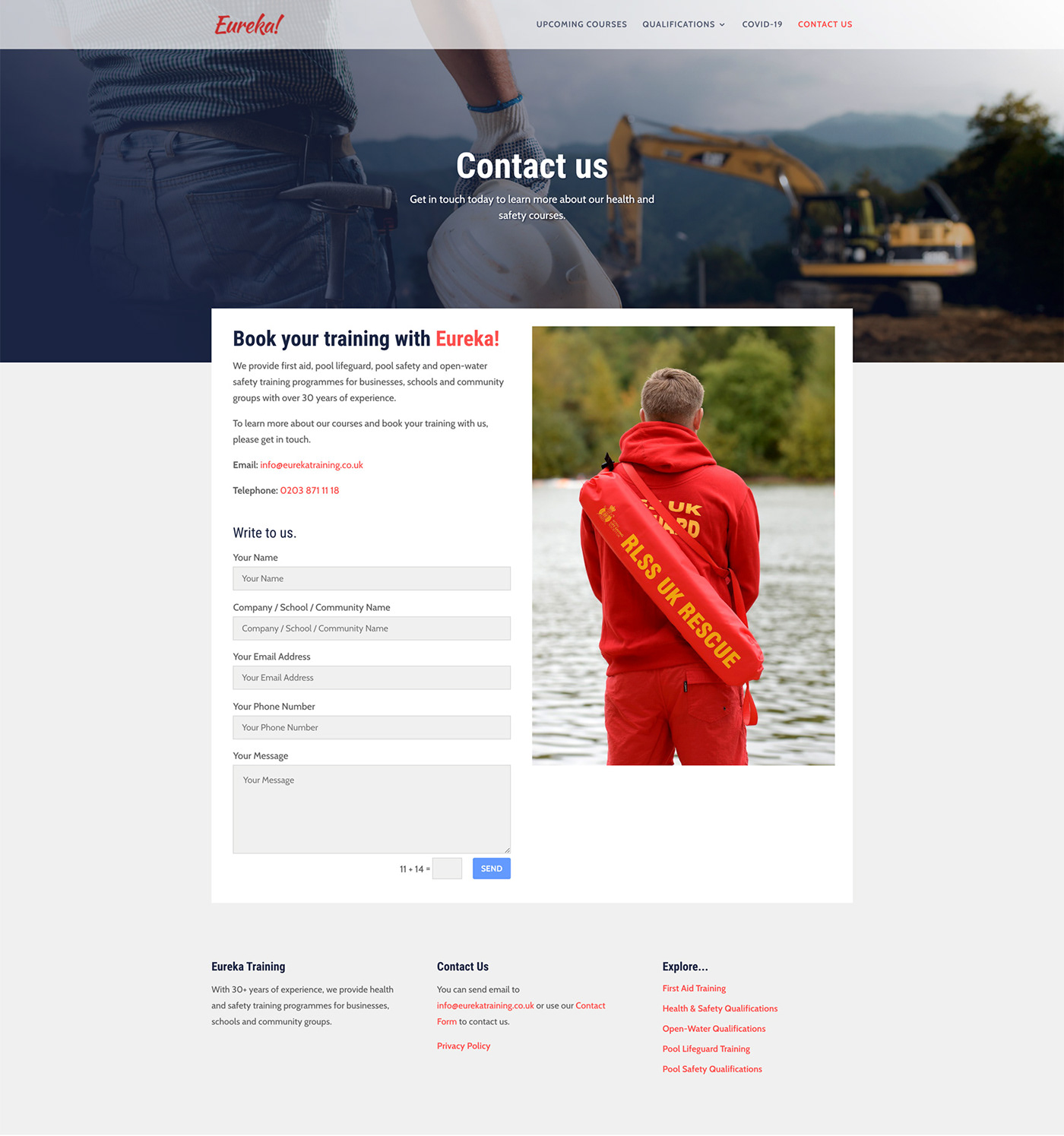 health and safety responsive website Web Design