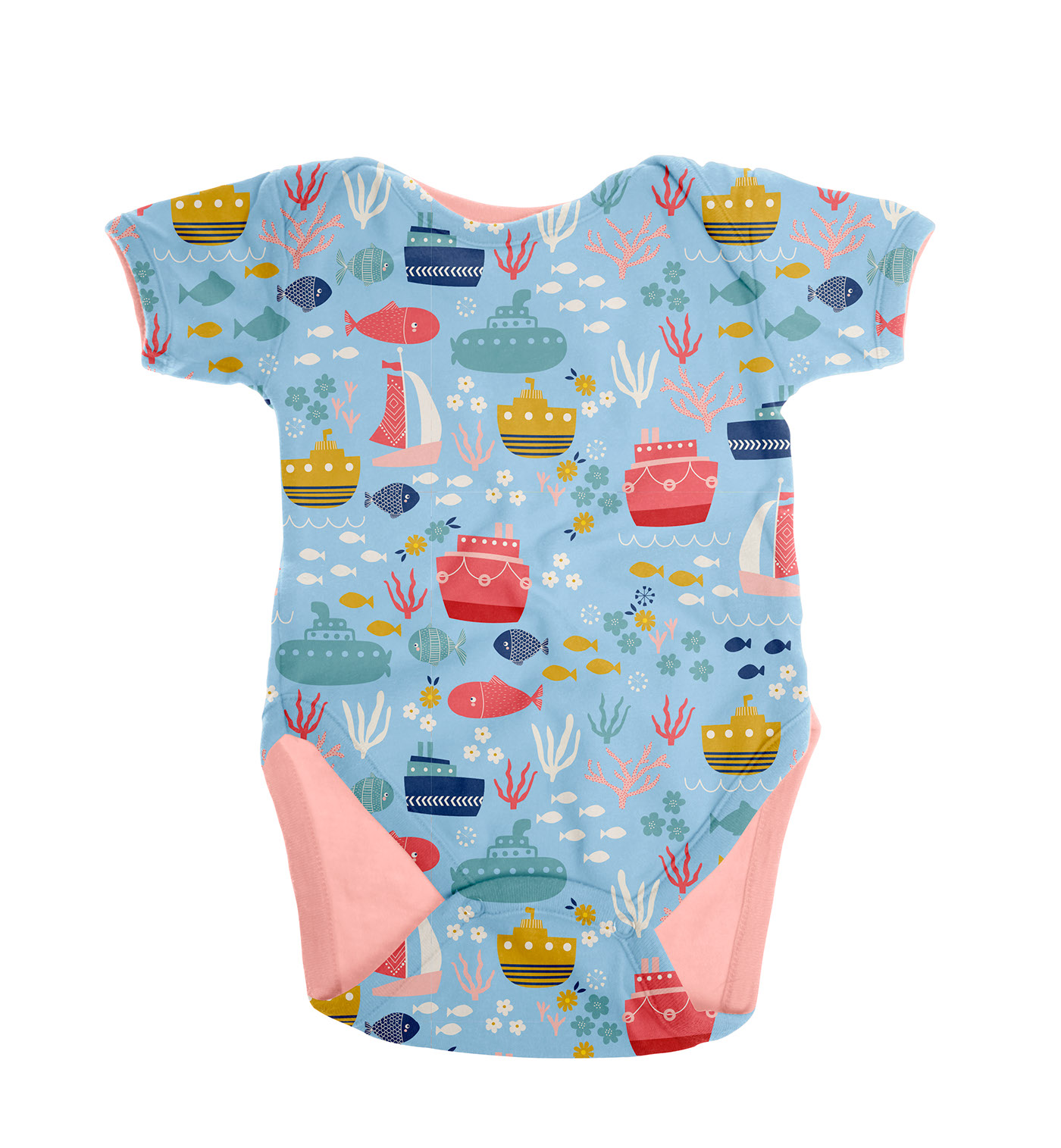 Under The Water Over The Water Baby Wear Print Design on Behance