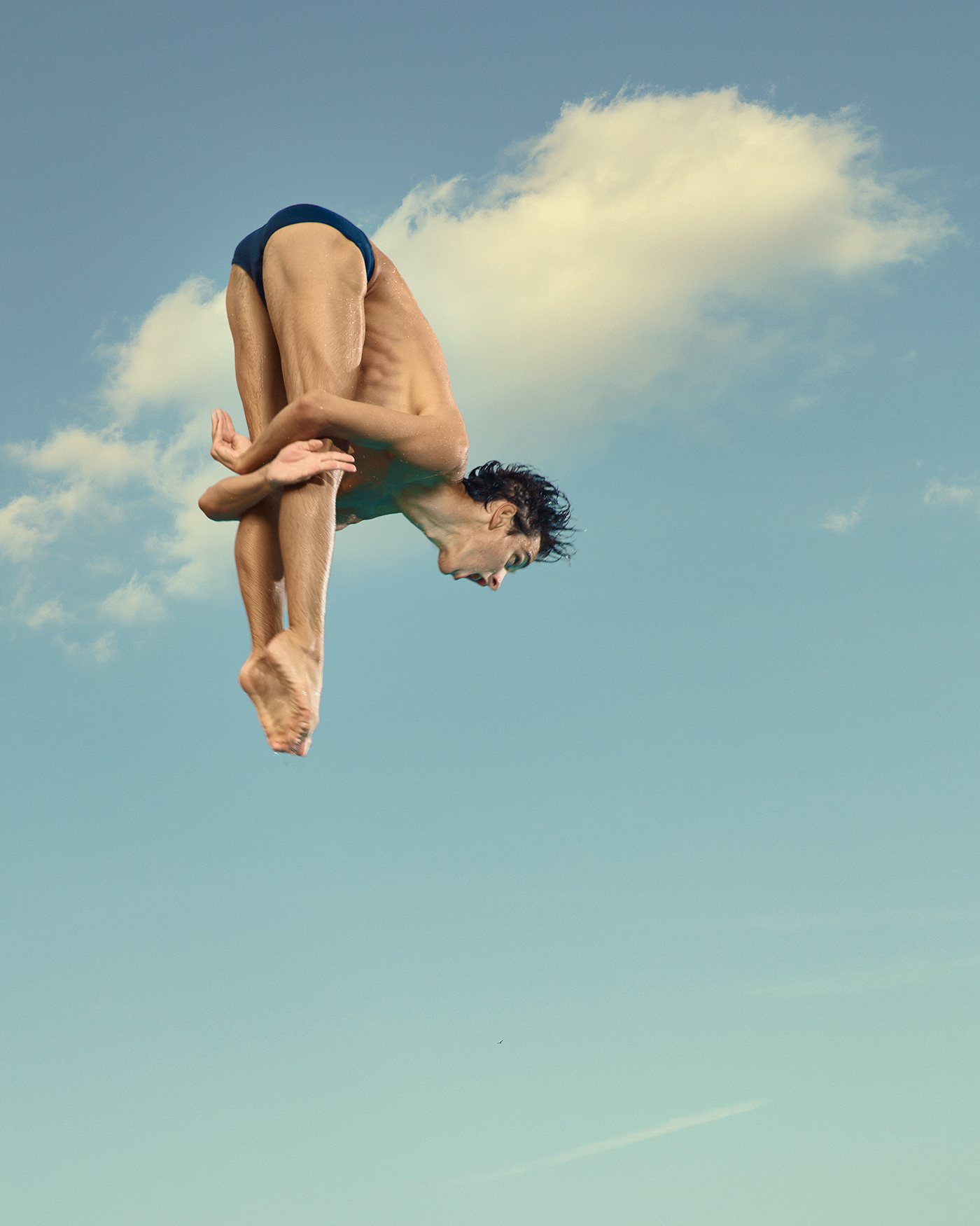 character study color grade diver diving graceful minimalistic motion study simple sport swimmers