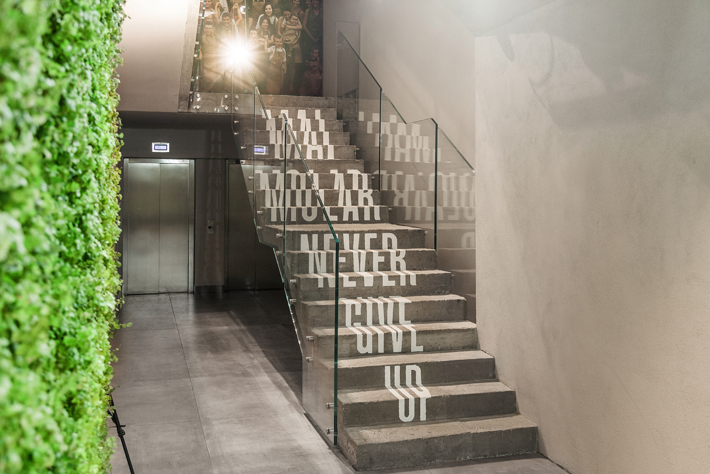 3d modeling anamorphosis architecture branding  Staircase