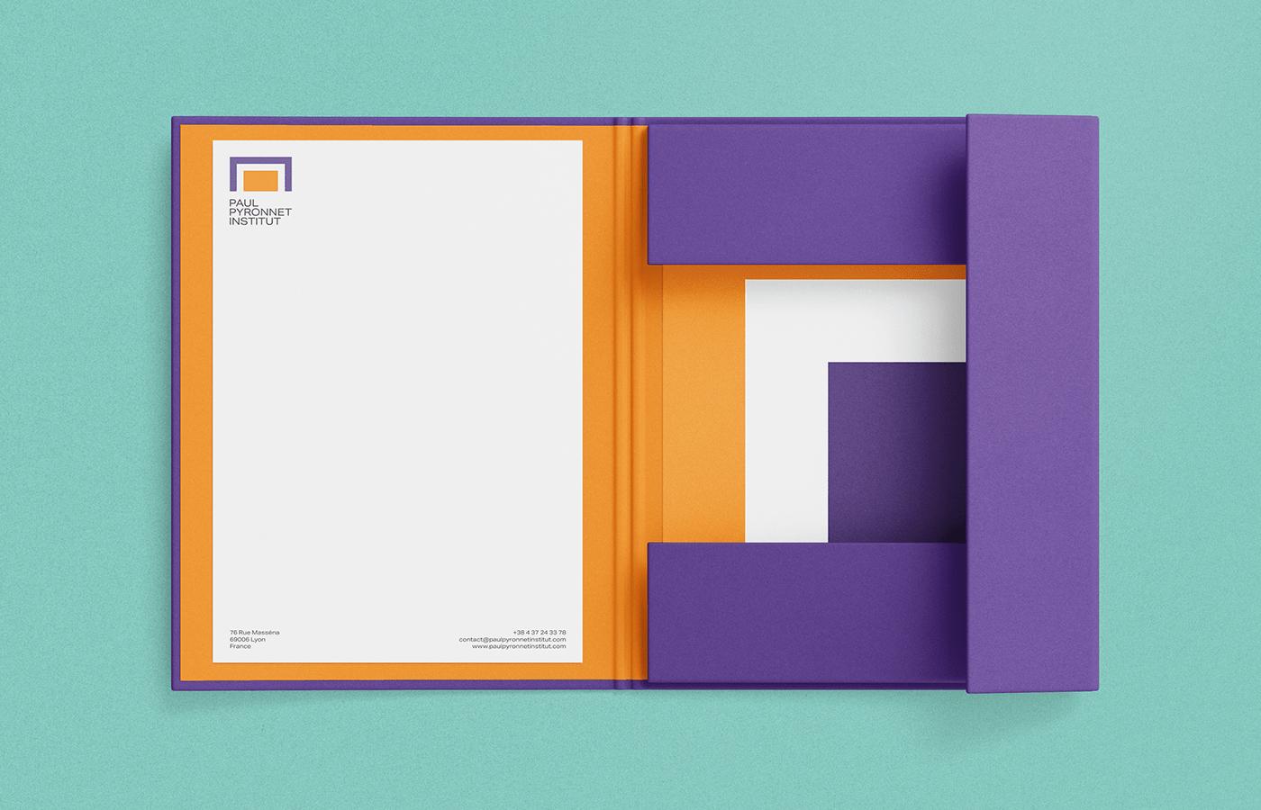 Paul Pyronnet Institut letterhead and folder