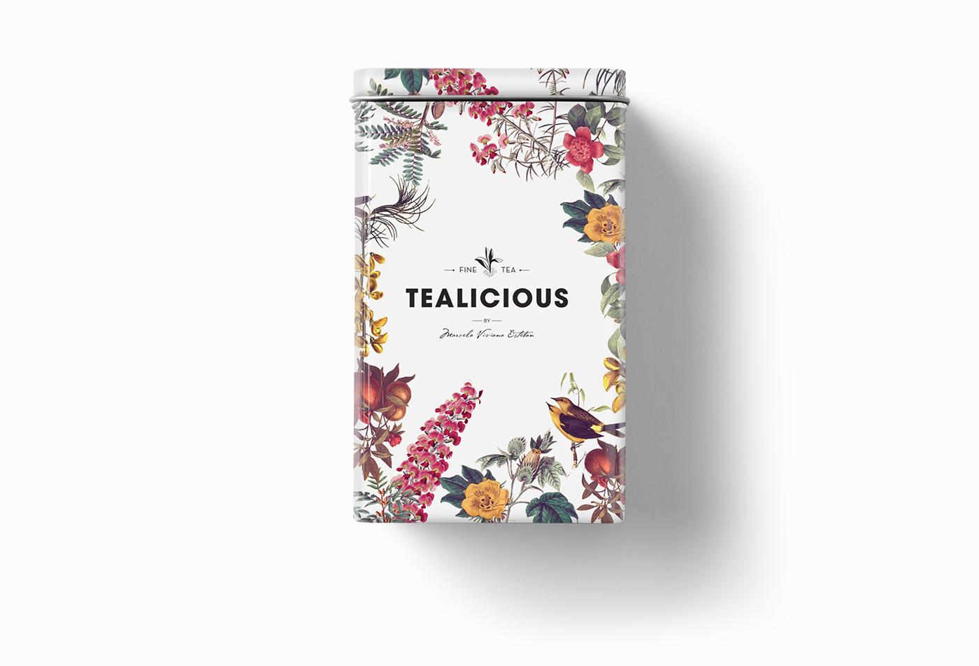 tea shop logo firenze Italy Florence te tealicious Flowers texture pattern Label