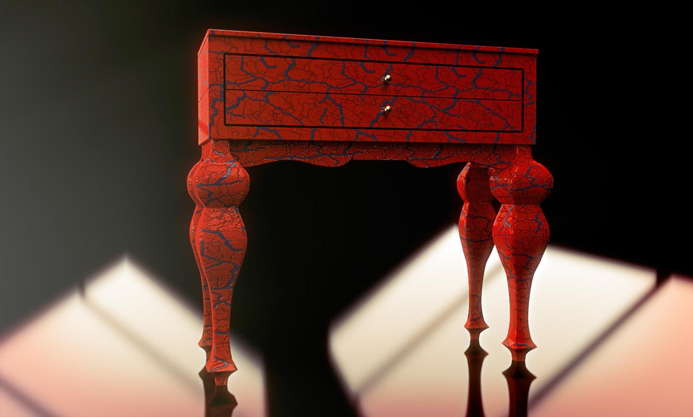 mobiliario craquelee