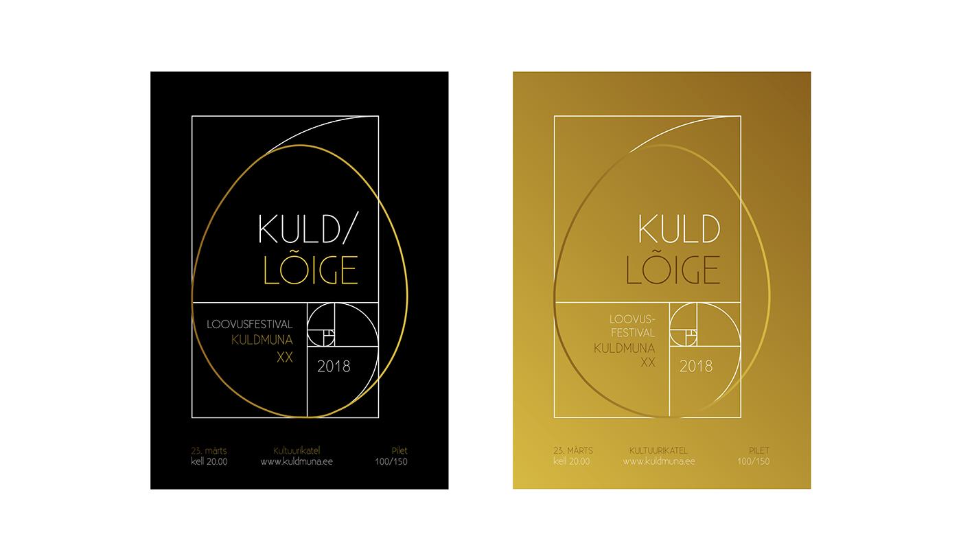 Logo Design golden egg Kuldmuna kuldlõige goden ratio concept design