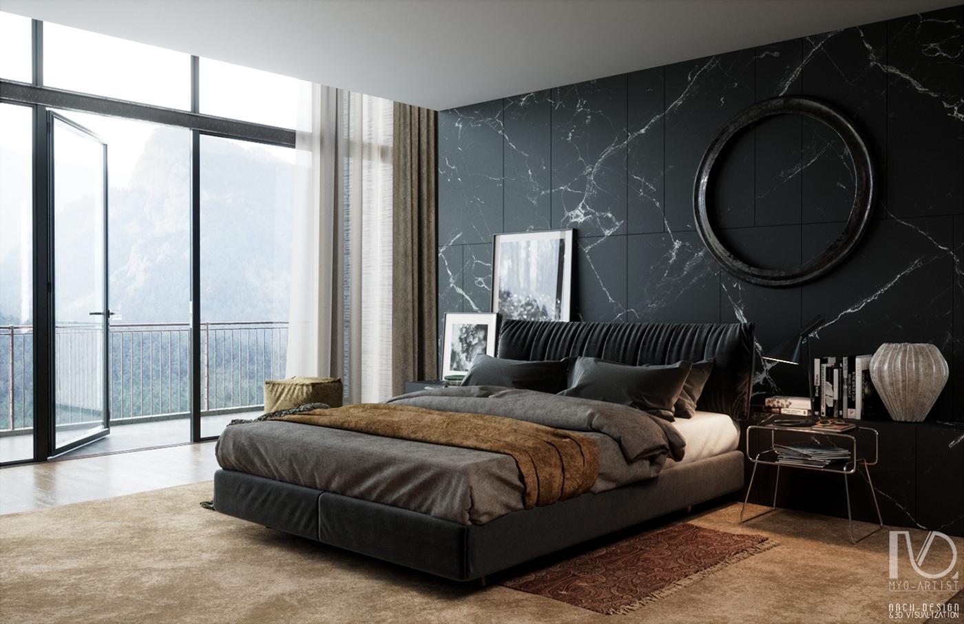 Myo Master Bedroom AN7 on Behance