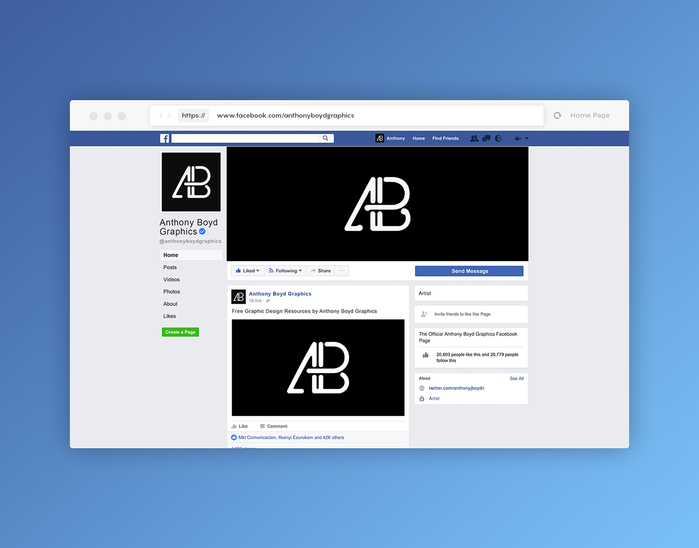 Facebook Page Mockup Template PSD On Behance - Facebook ad template illustrator