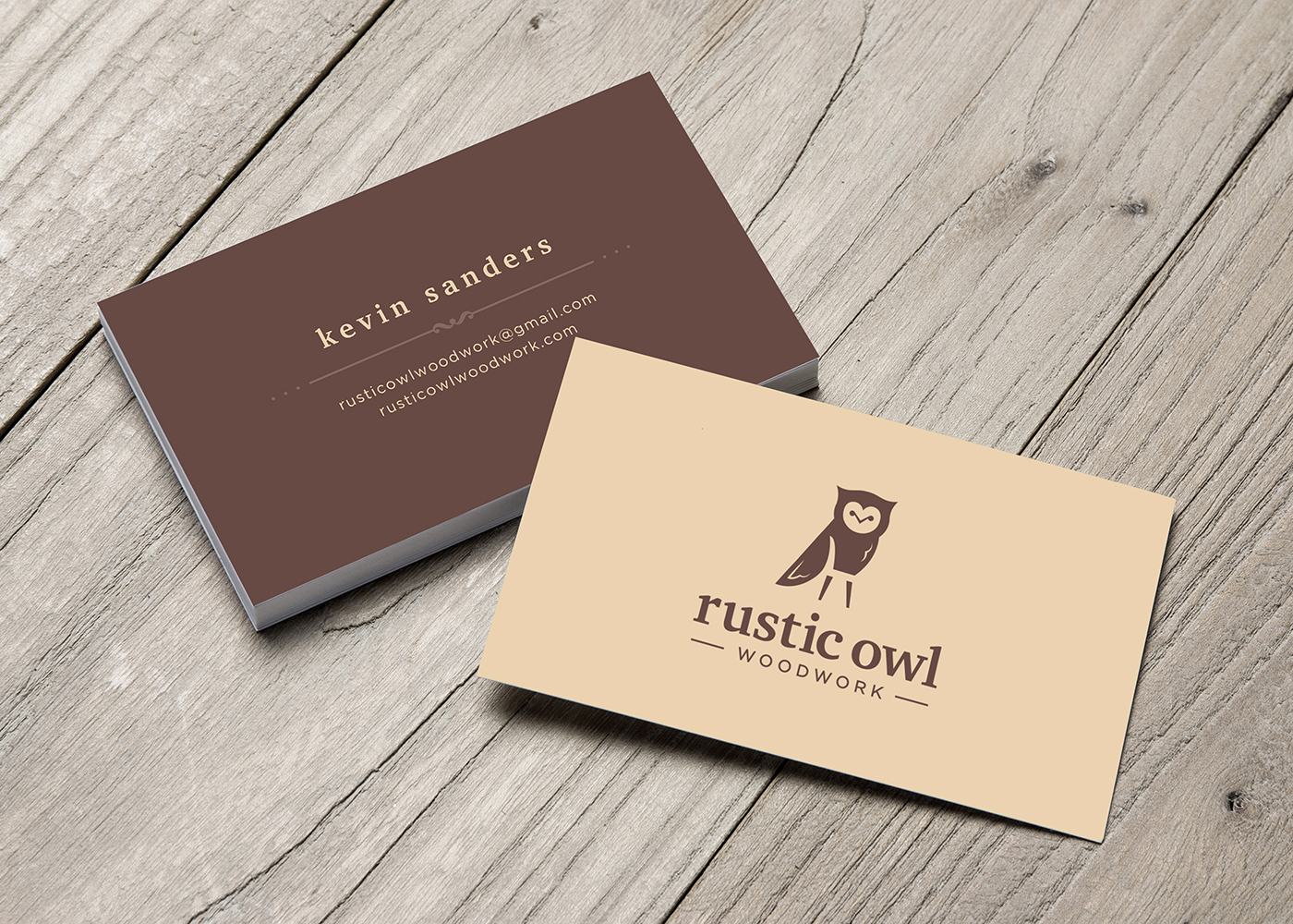 Rustic Owl: Logo & Business Card Design on Behance
