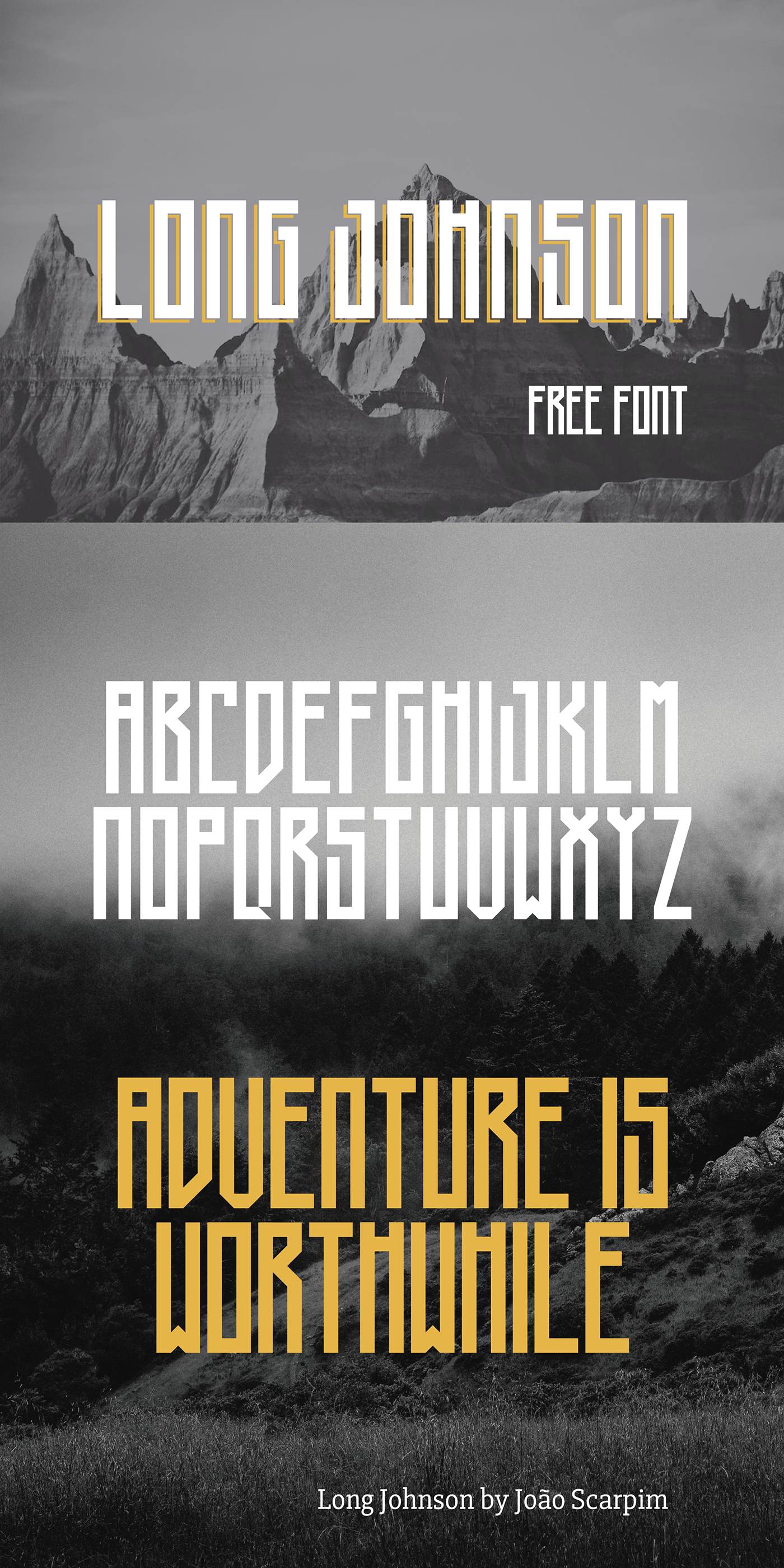 free font long Geometrical