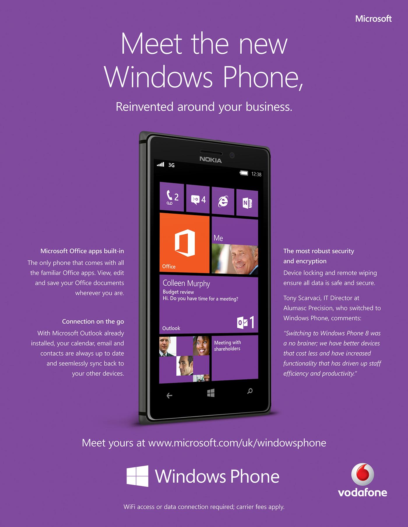Windows Phone / Nokia925 - A4 Print Ad - LIVE WORK on Behance