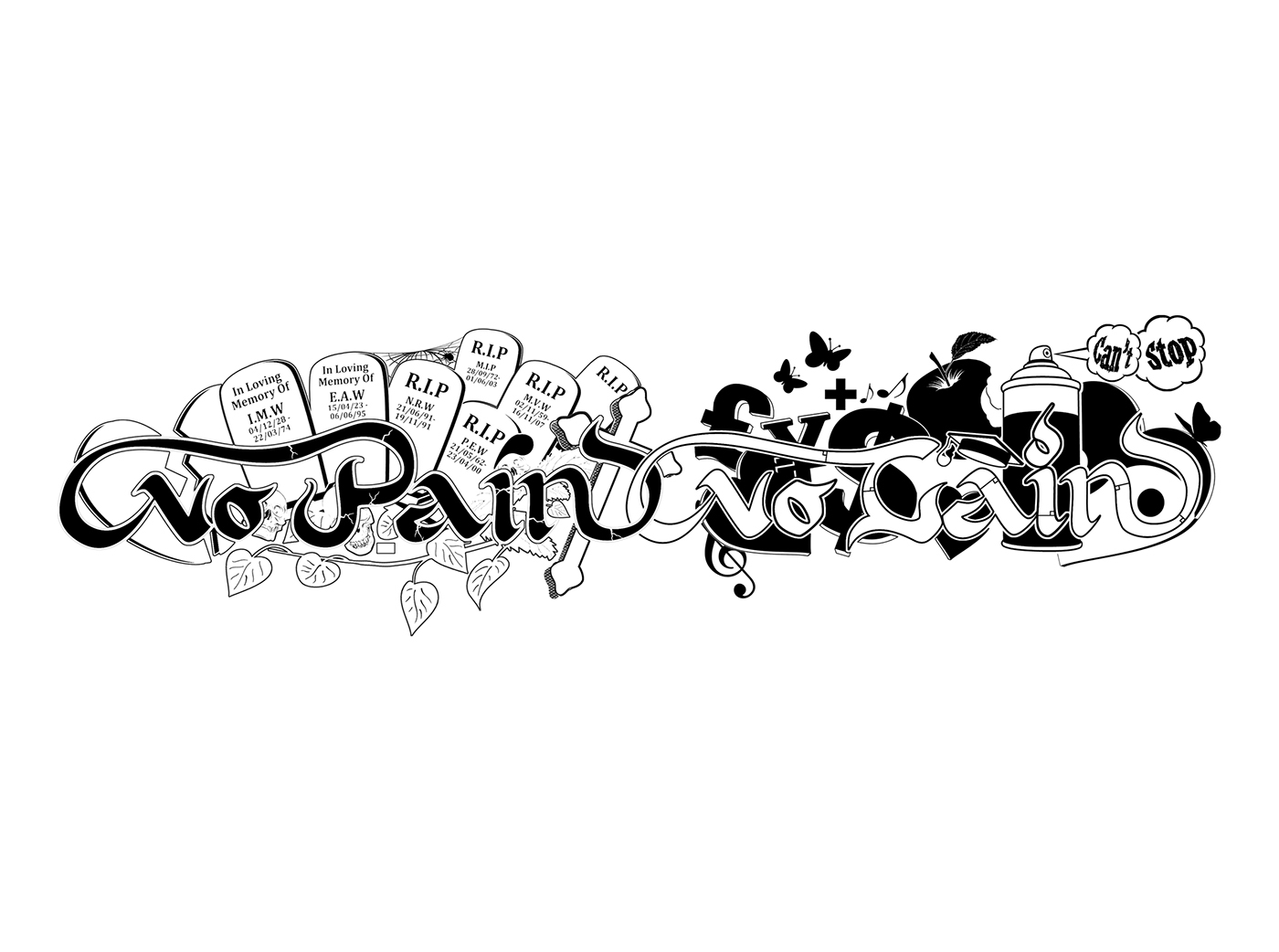No Pain No Gain Tattoo Design On Behance