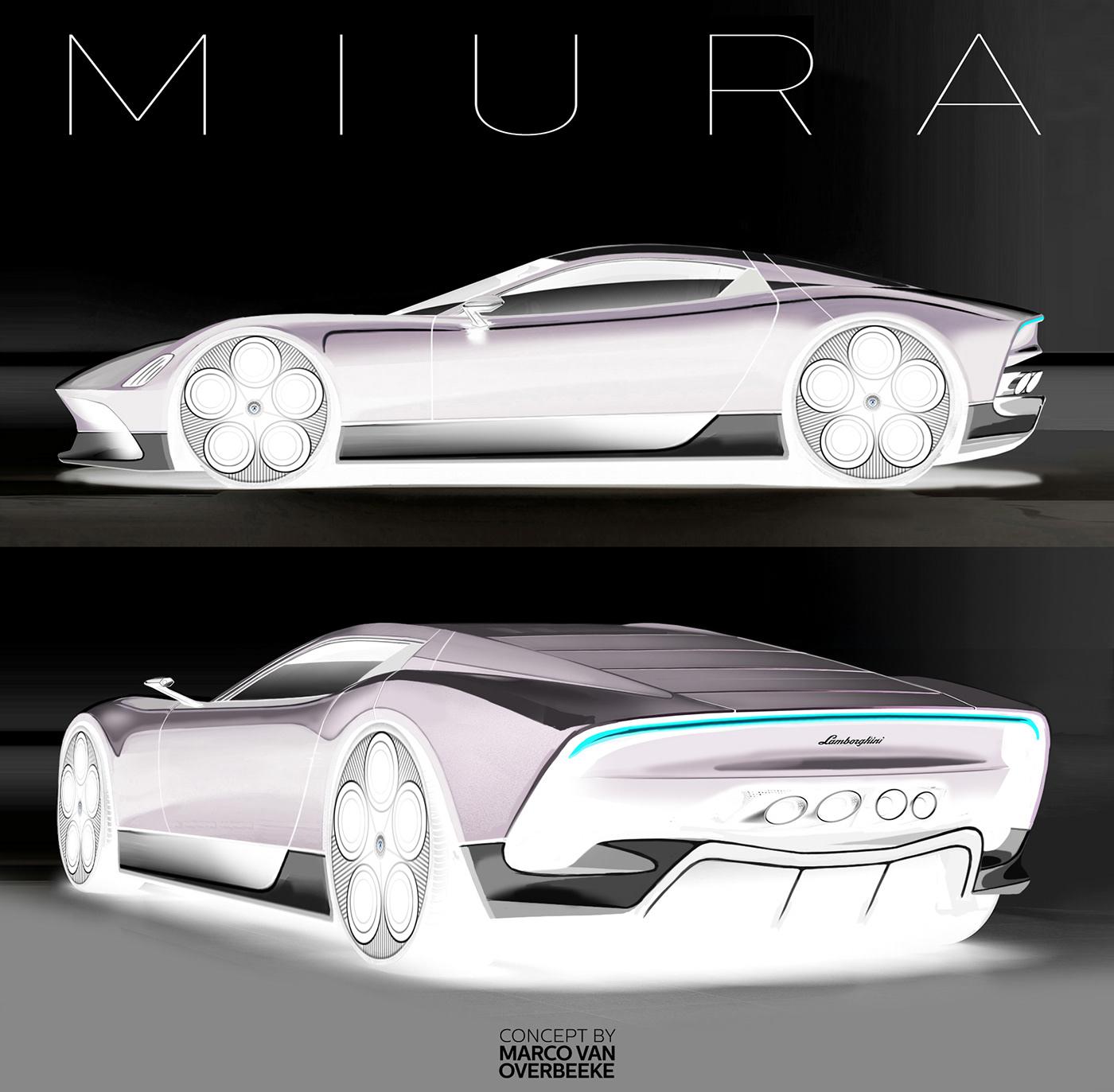 Lamborghini Miura: Lamborghini Miura Nuova Concept II On Behance