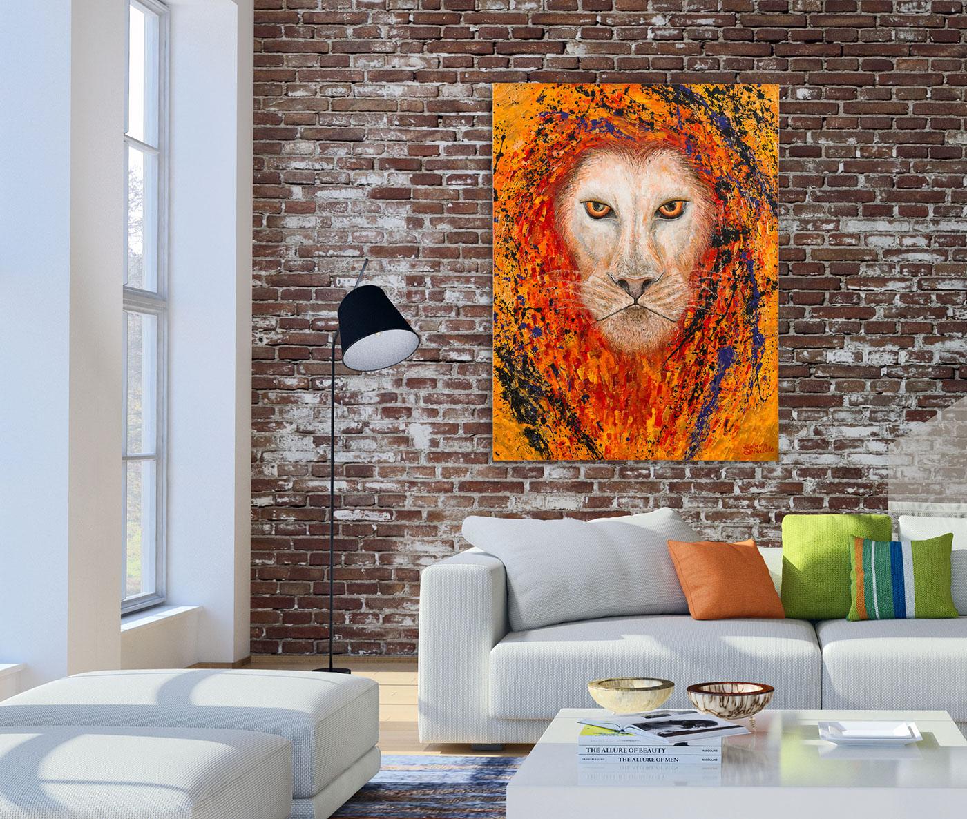 painting   FINEART fineartbrisbane brisbaneartist brisbanepainter artistbrisbane lionpainting behanceartist