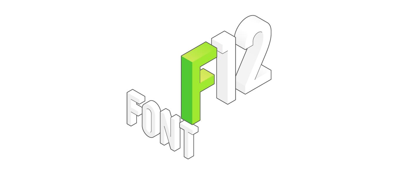 font Isometric