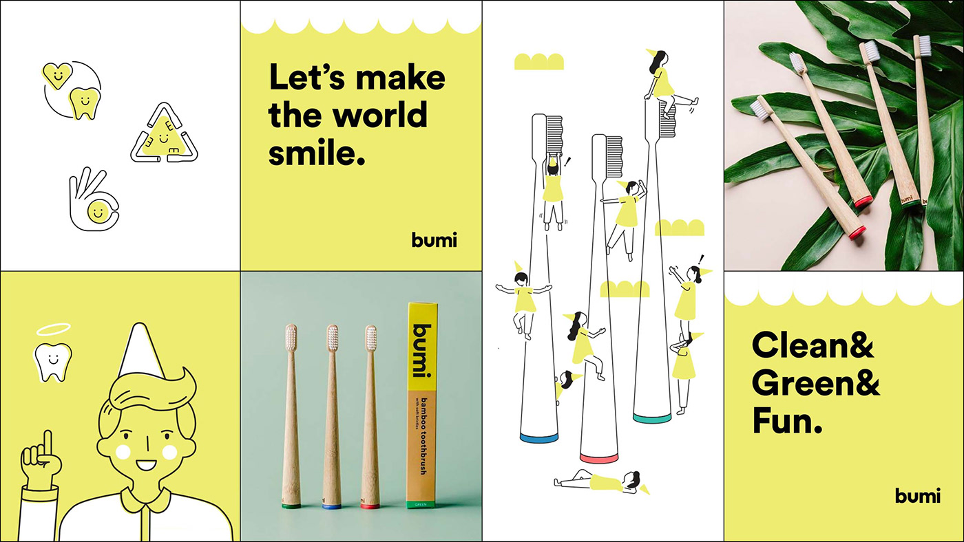 beauty branding  Health ILLUSTRATION  Lifestyle brand pacakging product design  self care Sustainable toothbrush