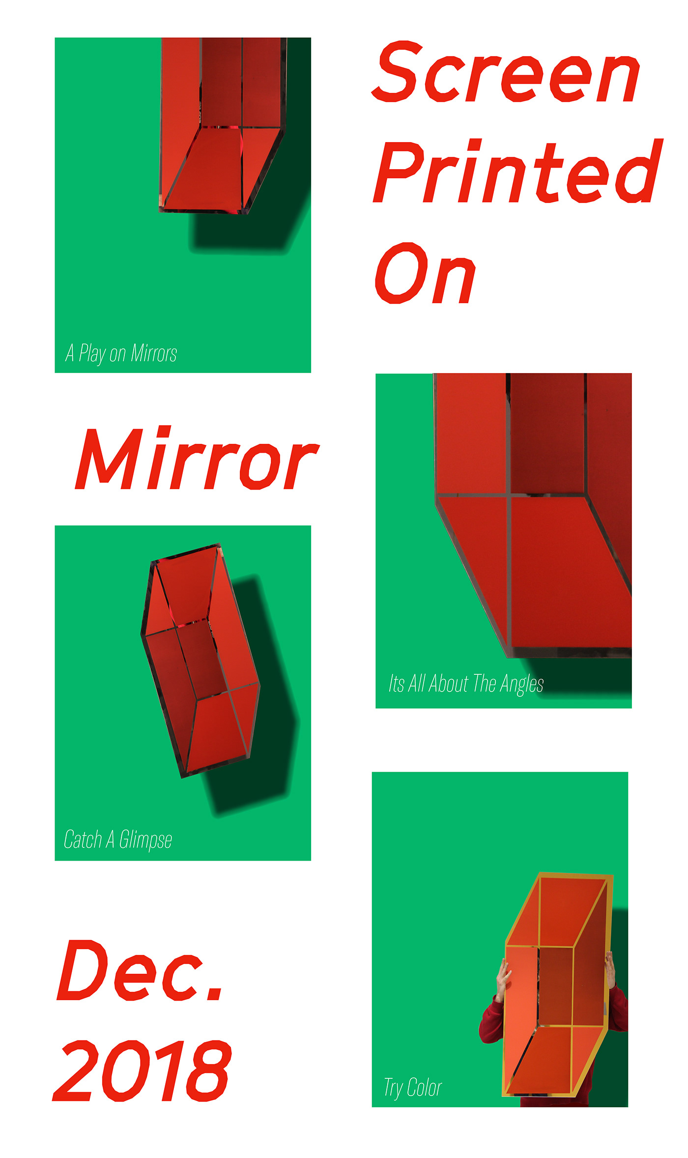 screen print mirror laser cut Illustrator graphic design