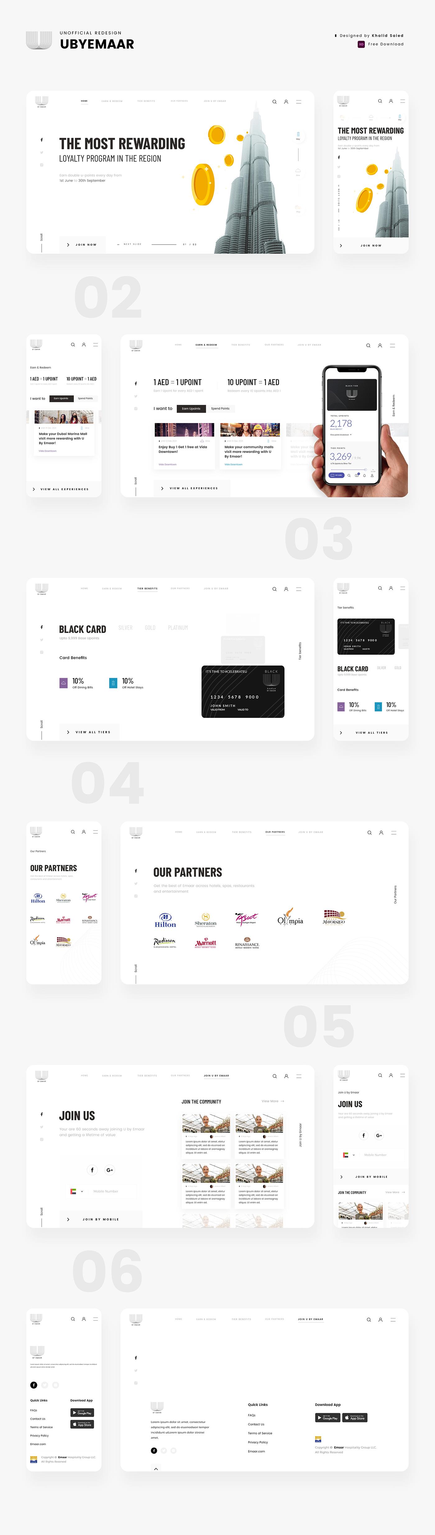 free adobe xd free download UbyEmaar web redesign