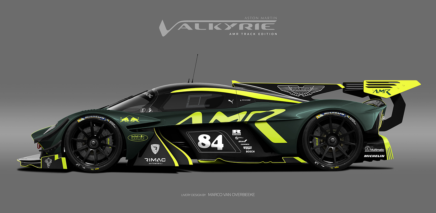 Aston Martin Valkyrie Amr Pro Amp Heritage Liveries On Behance