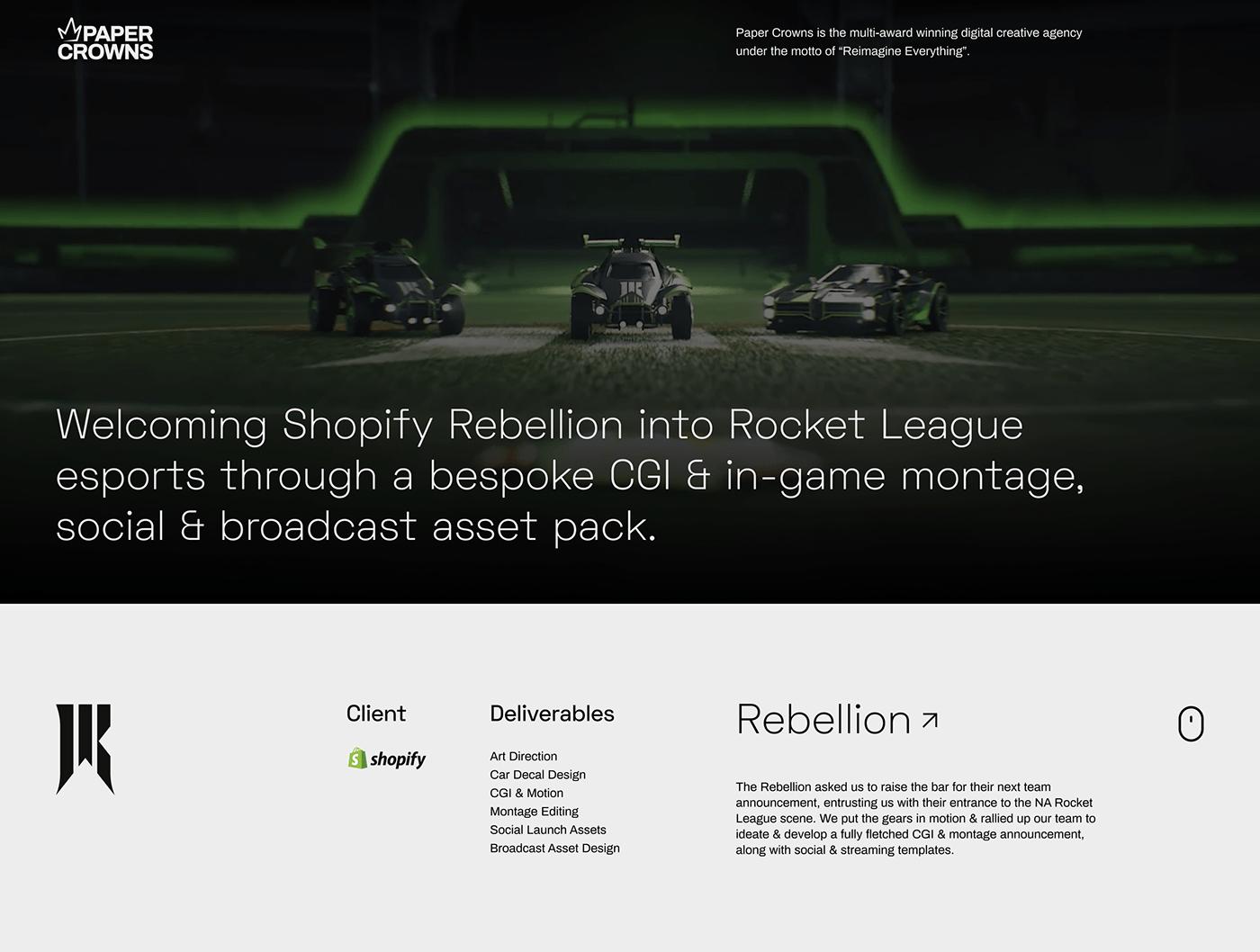 3d motion broadcast CGI montage Rocket League Social Graphics stream Video Edit