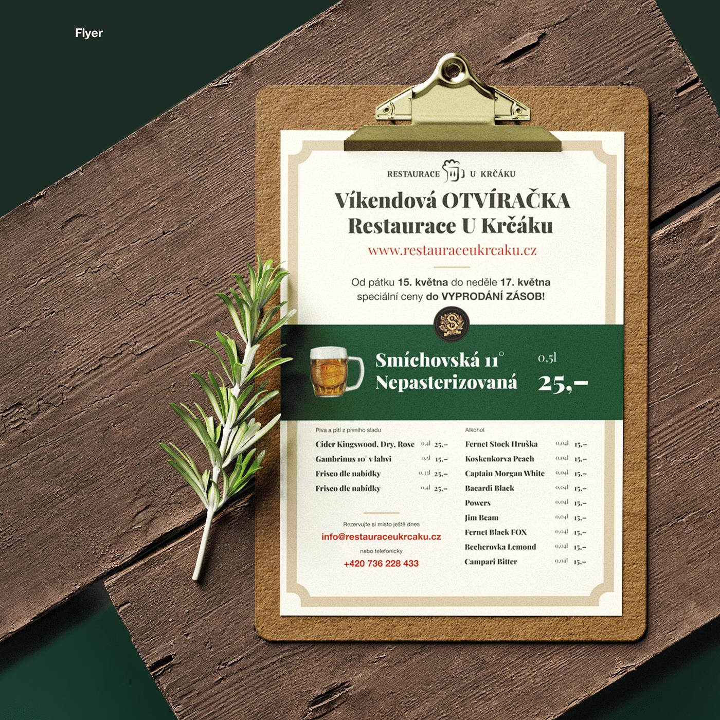 beer flyer restaurant UI ux Web Webdesign wordpress