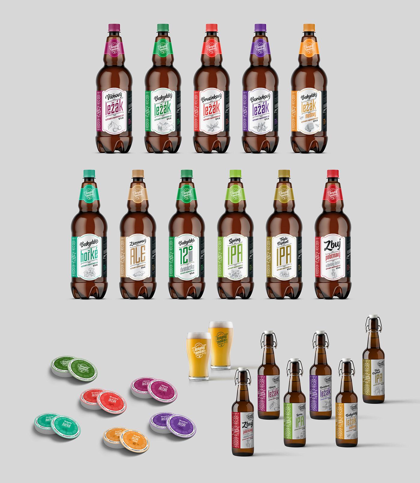 beer brewery hop bottle beskids etiquette Label brewing