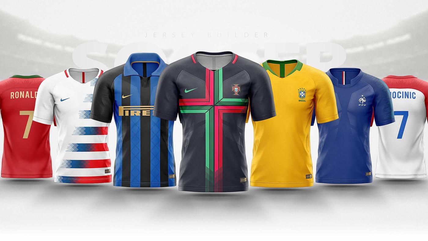 Fifa World Cup 2018 Football Shirtjersey Builder Psd On Behance