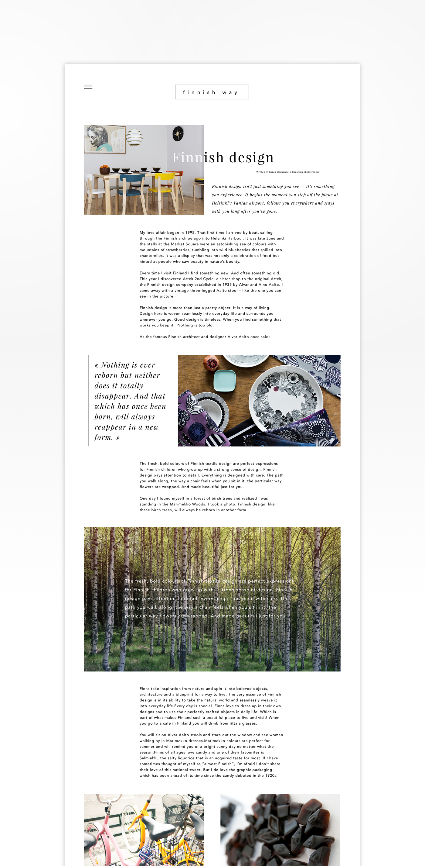 Blog Interface UI ux design Web Webdesign finland Finnish