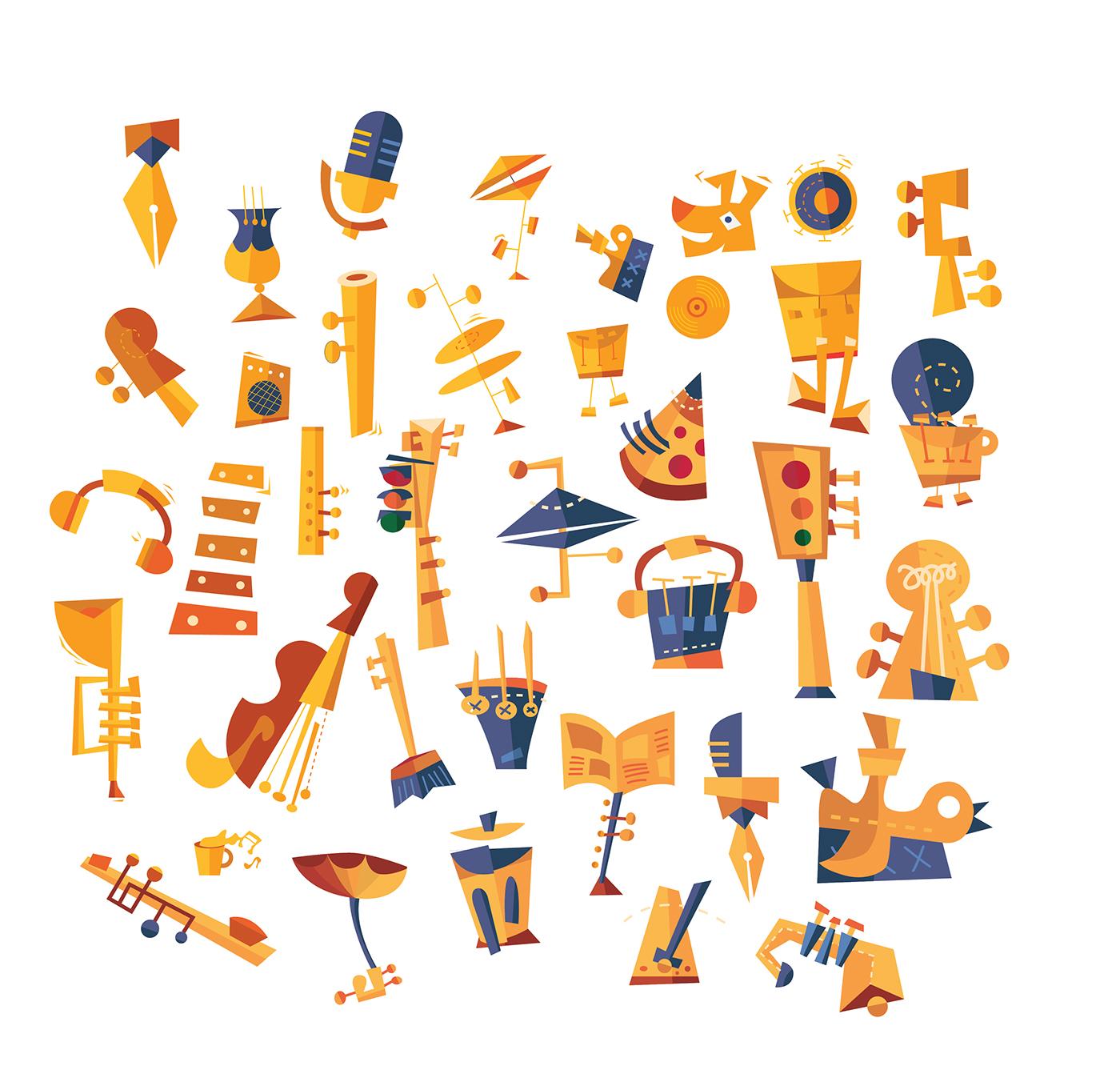Illustration: Jazz Instruments Abstract Imagemaking on Behance