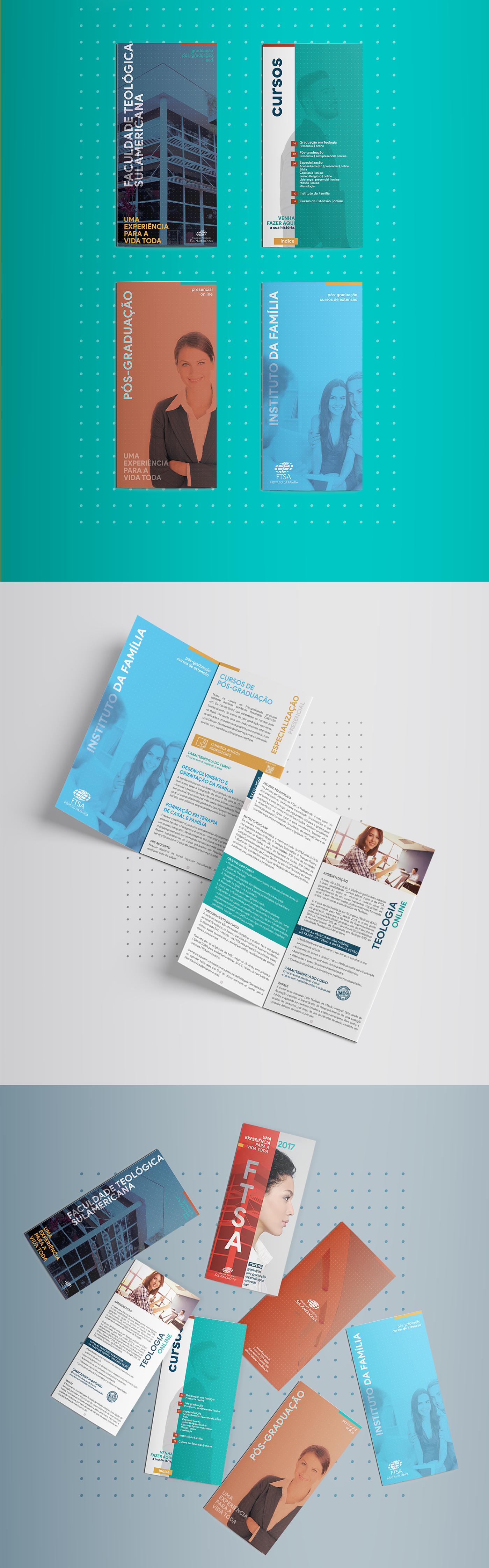 graphic design  design gráfico brochure folder University universidade editorial faculdade catalogo publicidade
