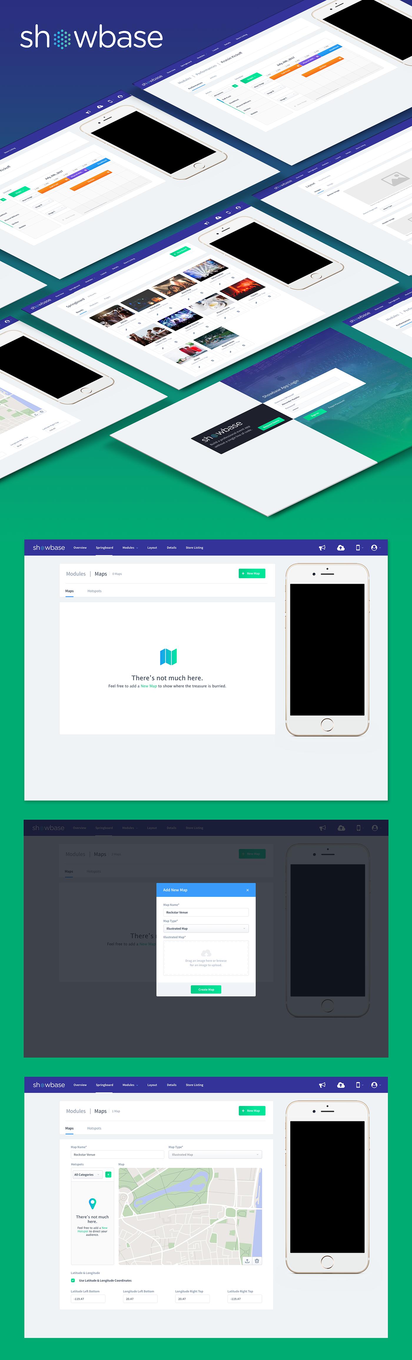 Event webapp ux UI showbase sketch sketchapp Illustrator user interface user experience