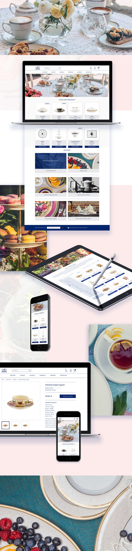 porcelain e-commerce Web Design  Photography  brand