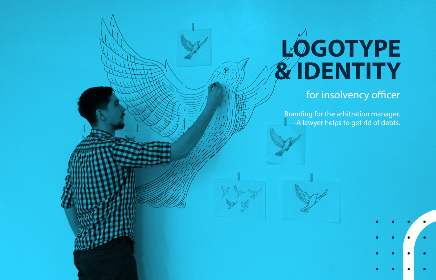 law logo identity brand wing bird banqrote SKY cloud makeagency