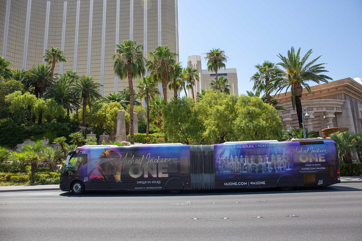 andre Andre Luis Santos Bus Wrap cirque du soleil design graphic design  Las Vegas Michael Jackson santos transit design