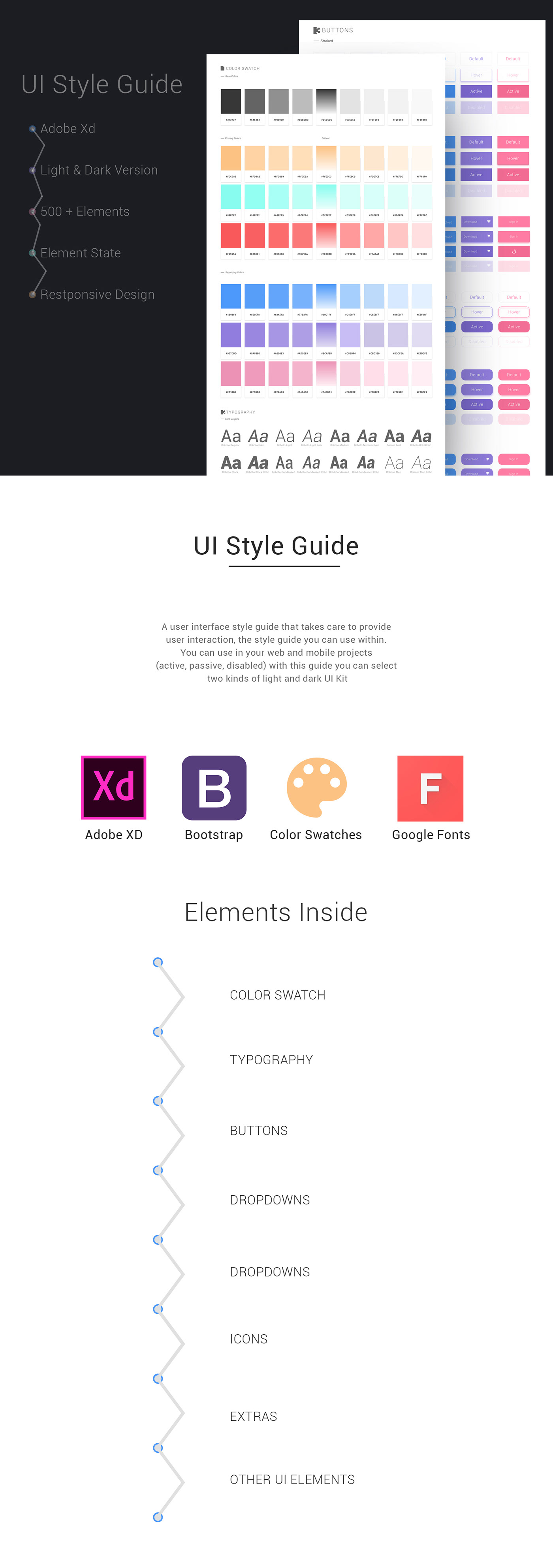 UI ux Web ui style ui light version ui dark version freebie resources muharrem yağan downloads