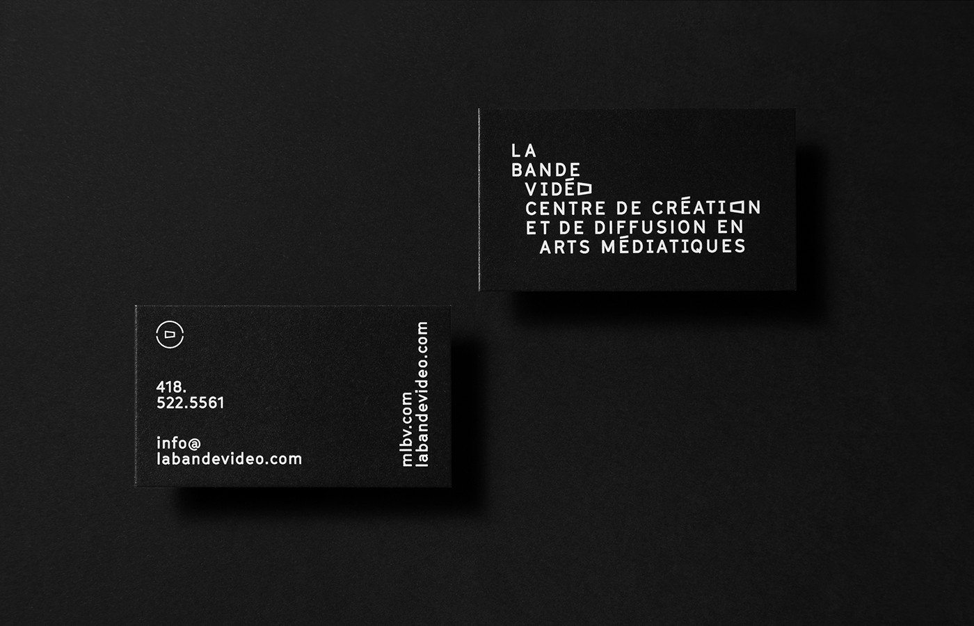 art motion video Quebec typography   black and white anniversary print media identity