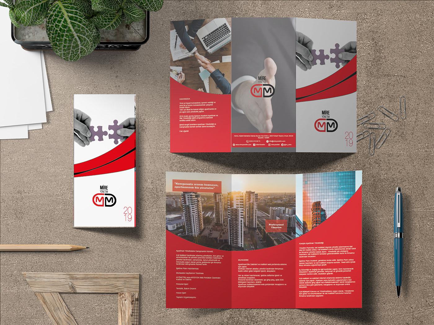 brochure creative Mire Yonetim advertisement ILLUSTRATION  corporate Corporate Identity design
