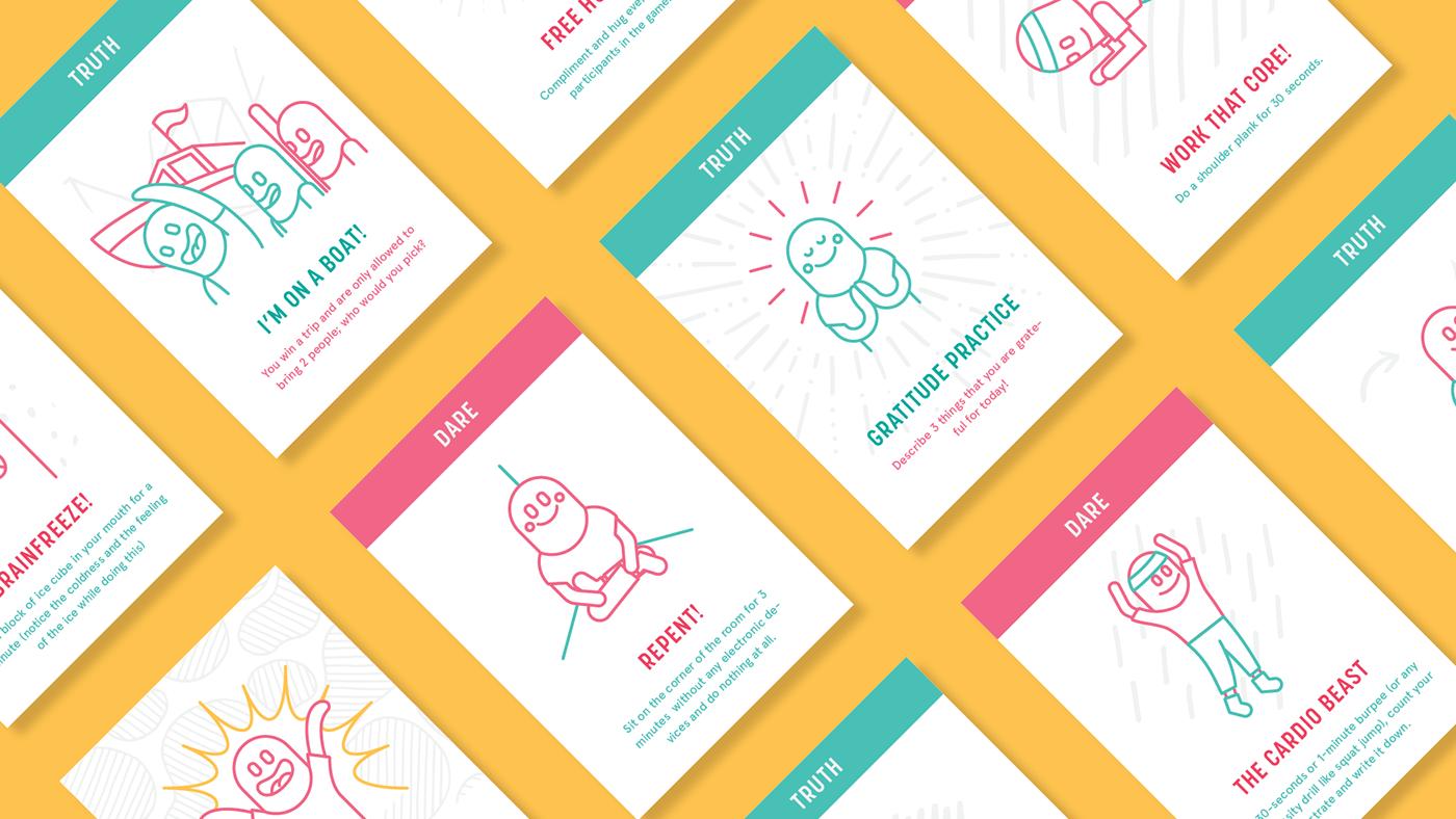 card game Packaging ui ux mindfulness meditation adobeawards