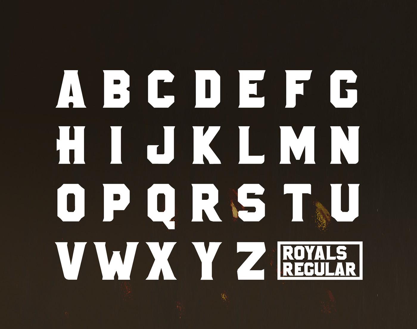 ROYALS font // Free Font on Behance