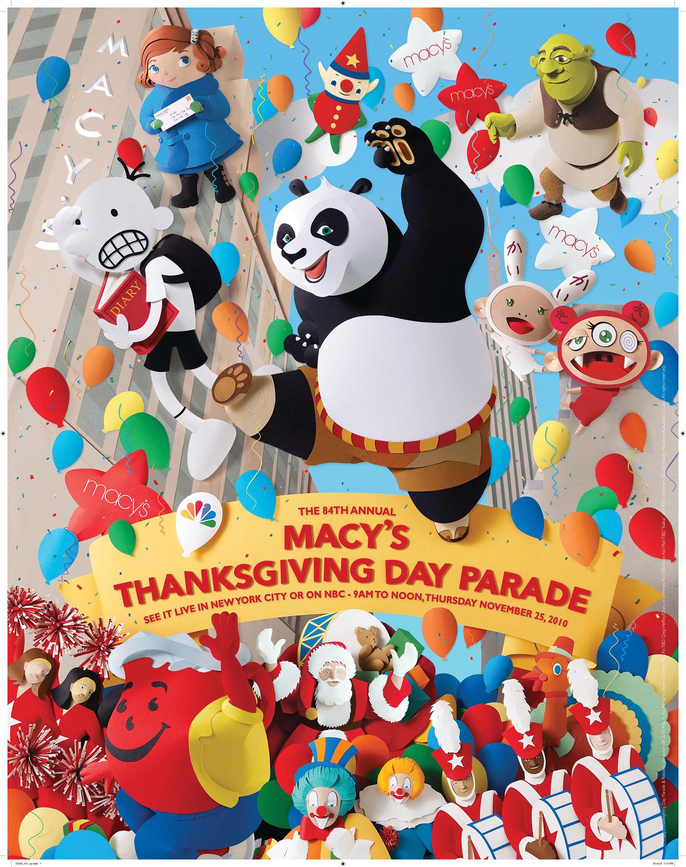 Macy S 10th Birthday Party At Dylan S Candy Bar: Macy's Thanksgiving Day Parade Poster Image On Behance