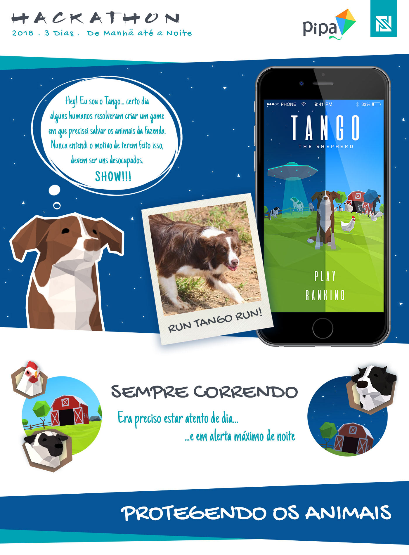 3D alien animal dog farm game hackathon lowpoly mobile thief