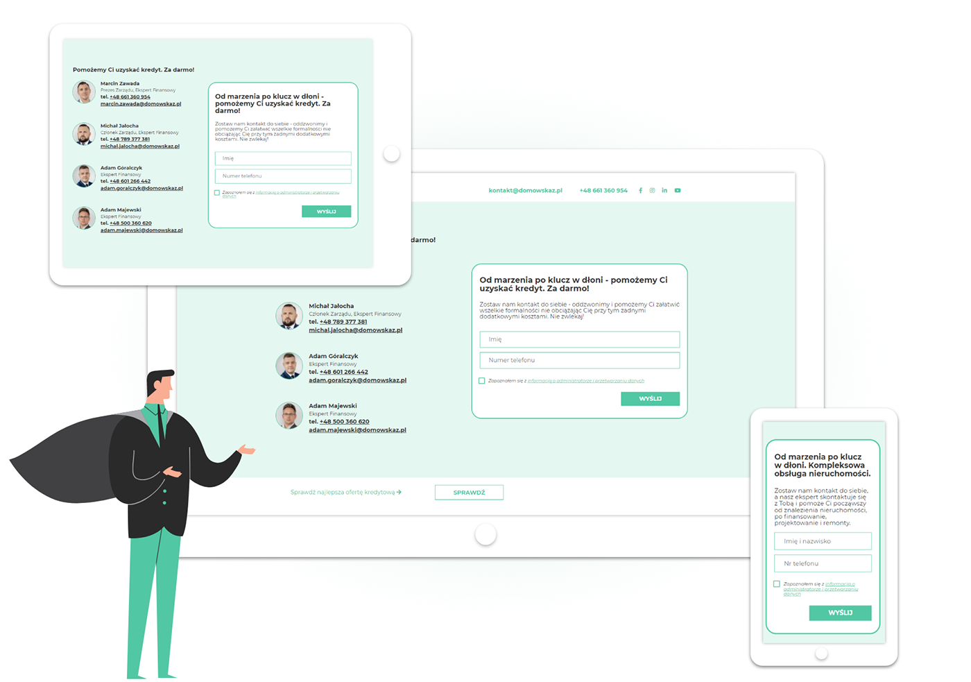 Landing Page, plan komunikacji reklama social media strona www
