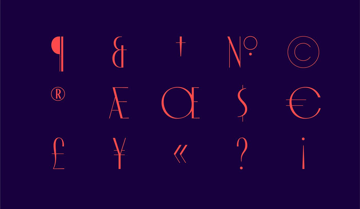 font Typeface Display art deco poster luxury elegant