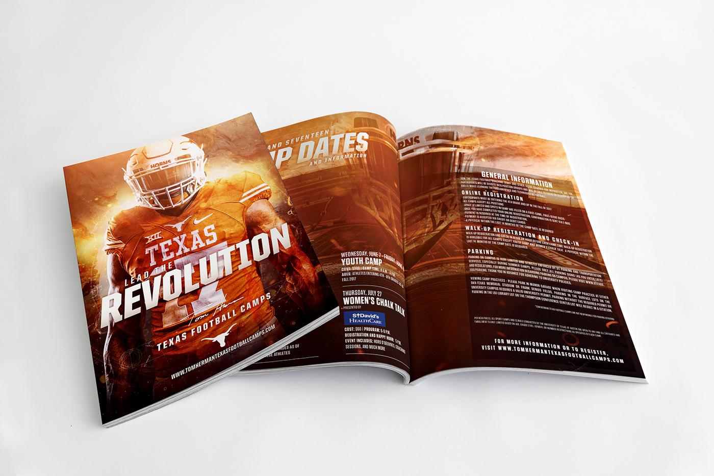 2017 Tom Herman Texas Football Camps Brochure On Behance
