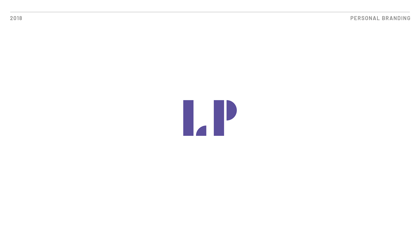 Logo for personal branding - LP in violet