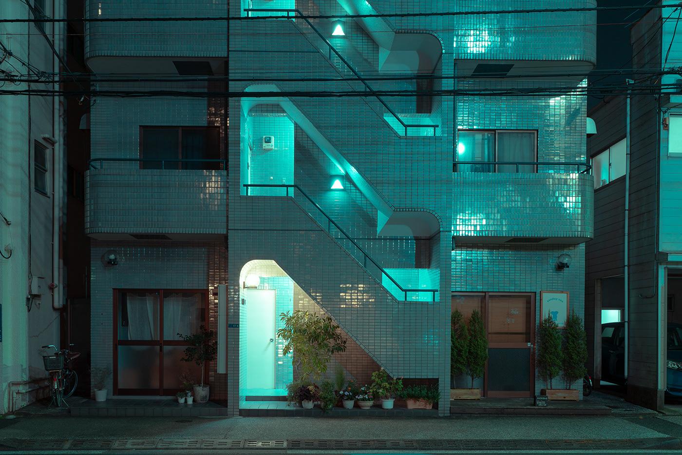 architecture asia japan light neon night Photography  tokyo Travel Urban