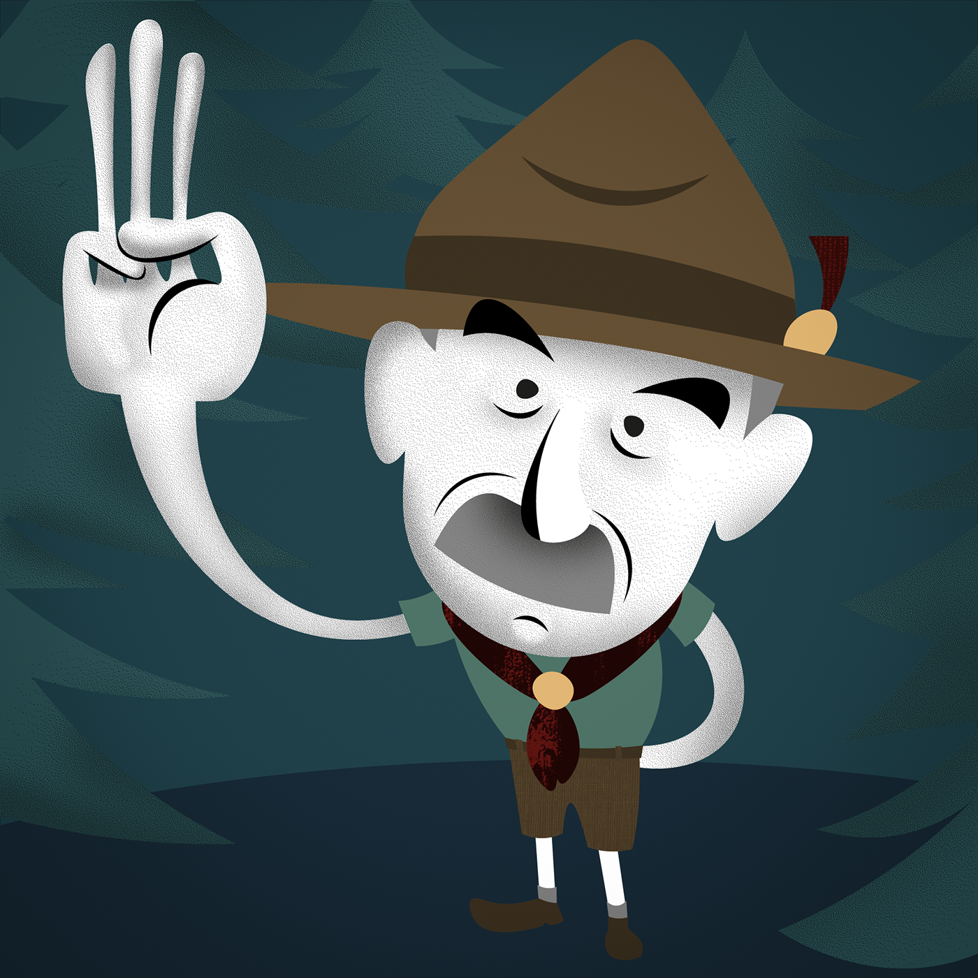 Baden Powell Caricature On Behance