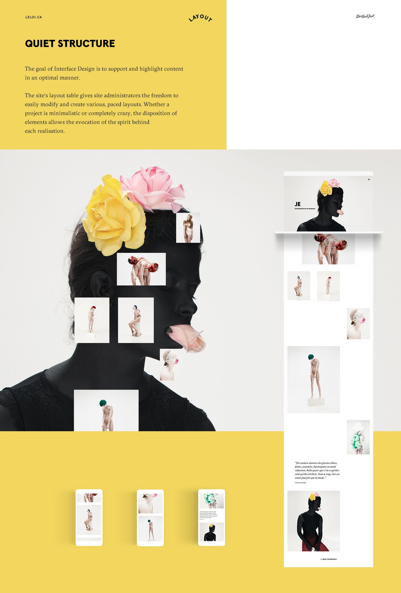 portfolio UI creative showcase agency Montreal magazine