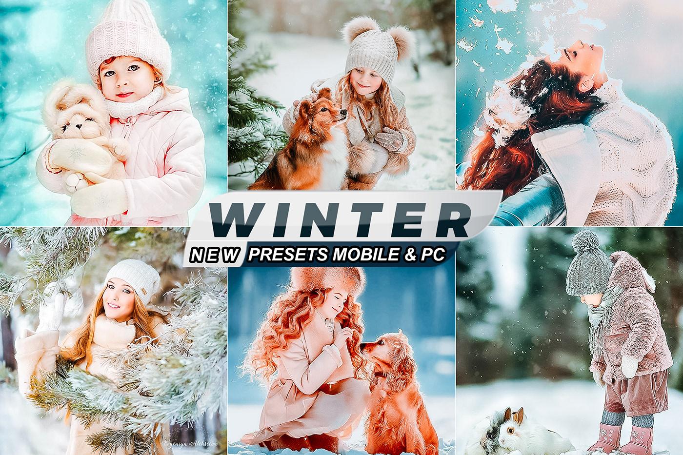 cinematic Fashion  lightroom modern portrait presets winter