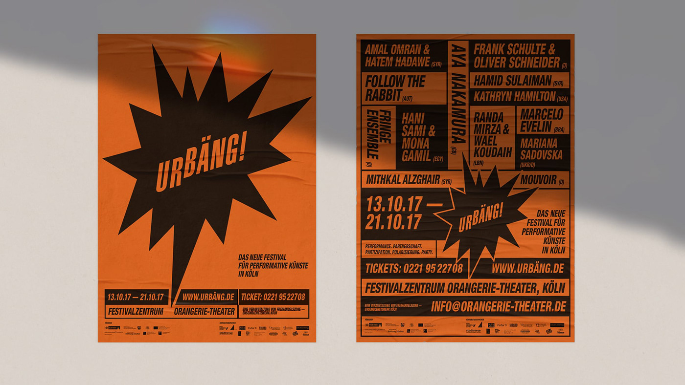 abstract arts festival posters
