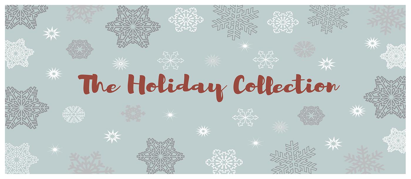 print design  ILLUSTRATION  holidays gift winter Ski skater sleigh snowflake for sale